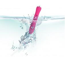 Вибратор со спиралевидным рельефом и функцией нагрева Anya Plum Red - 19,6 см