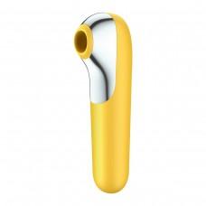 Вакуумный клиторальный стимулятор Dual Love Yellow