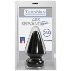 Анальная пробка черная без вибрации Titanmen Tools - Butt Plug - 3.75 Diameter Ass Servant