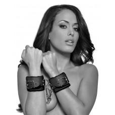 Чёрные наручники с меховой изнанкой Cumfy Cuffs