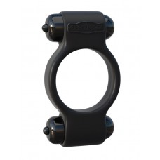 Эрекционное с двумя виброэлементами кольцо Magic Touch Couples Ring